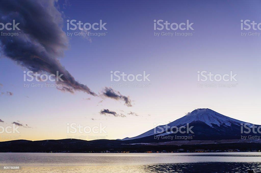 Mount Fuji with Rotor Cloud stock photo