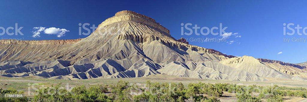 Mount Garfield panoramic view Grand Junction Colorado stock photo