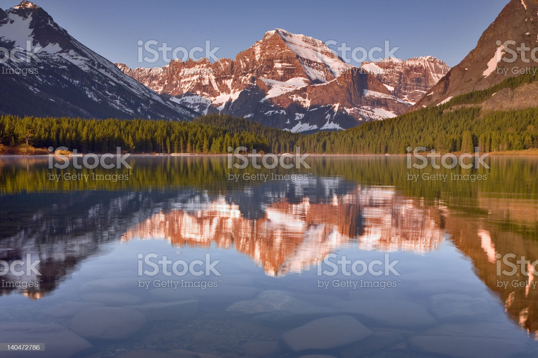 Mount Gould, Glacier National Park royalty-free stock photo
