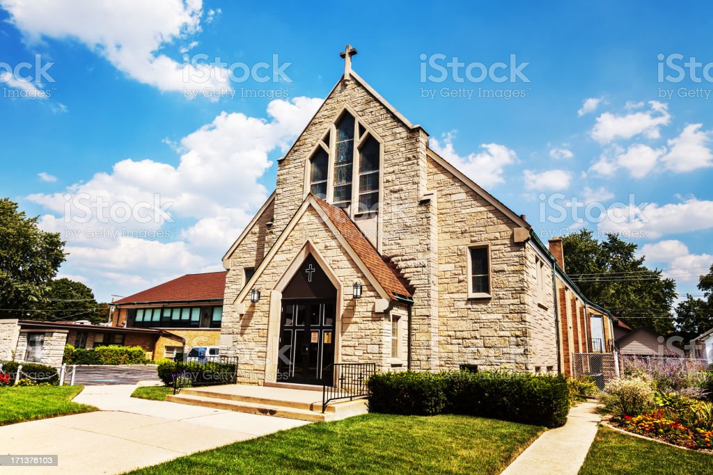 Mount Greenwood Lutheran Church, Chicago stock photo