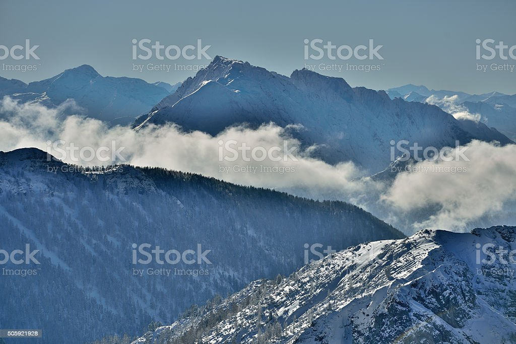 Mount Grimming in Styria stock photo
