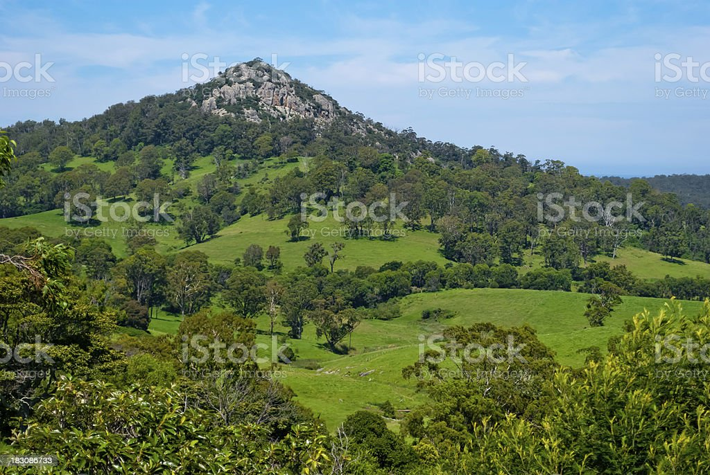 Mount Gulaga (Dromedary), Tilba, Australia stock photo