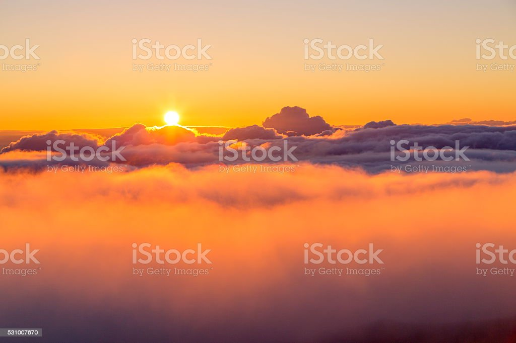 Mount Haleakala Sunrise, Maui stock photo