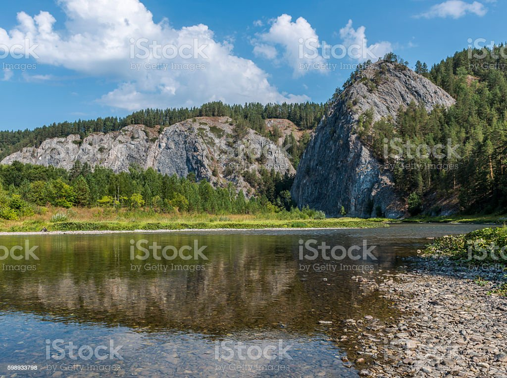 Mount Haystack in the southern Urals. stock photo