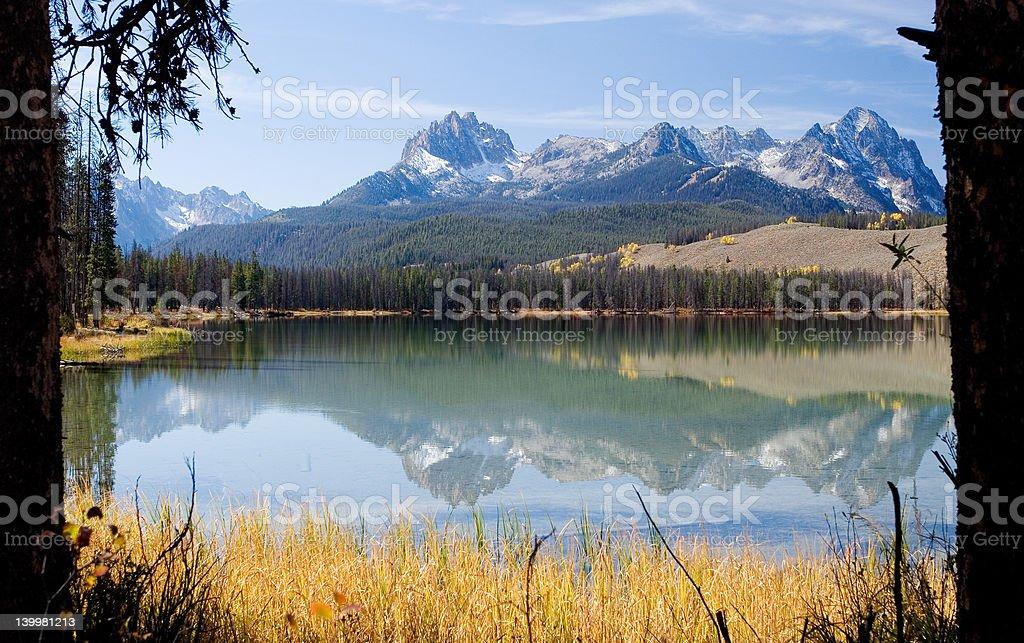 Mount Heyburn and Little Redfish Lake royalty-free stock photo