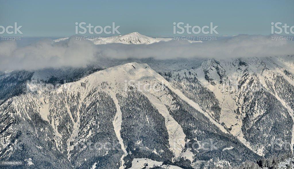 Mount Hoher Nock in Nationalpark Kalkalpen stock photo