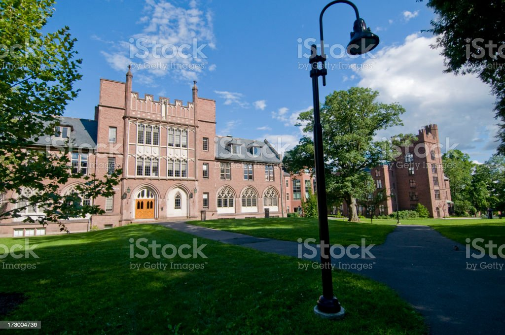 Mount Holyoke College, Massachusetts royalty-free stock photo