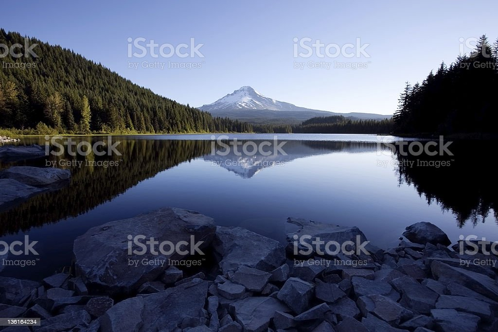 Mount Hood and Trillium Lake royalty-free stock photo