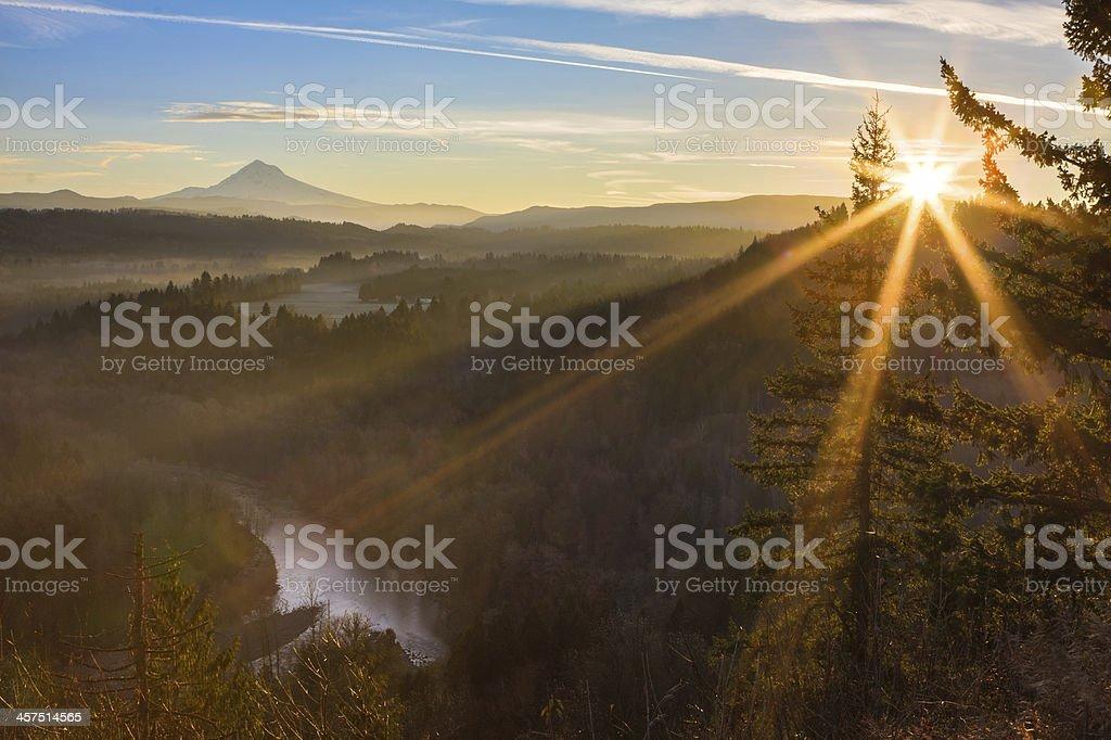 Mount Hood from Jonsrud viewpoint. stock photo