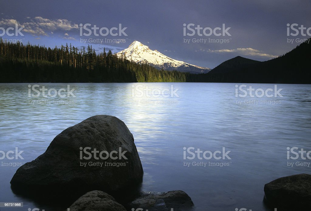 Mount Hood from Lost Lake, Orgeon, USA stock photo