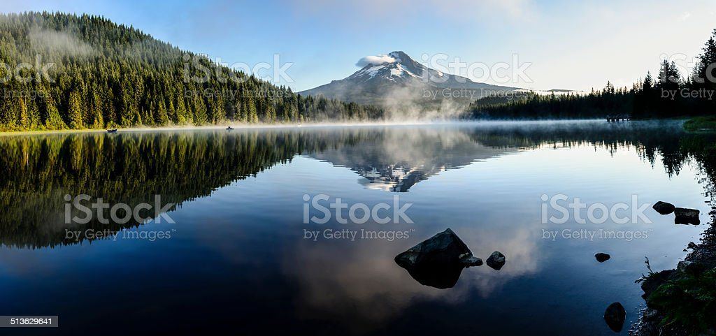 Mount Hood reflected at Trillium Lake, Oregon -XXXL stock photo