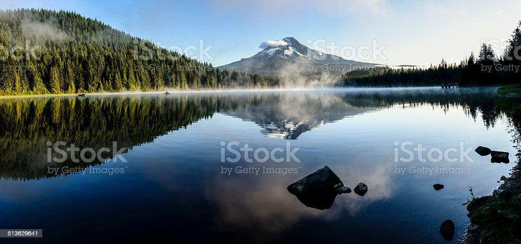 Mount Hood reflected at Trillium Lake, Oregon -XXXL stock photo