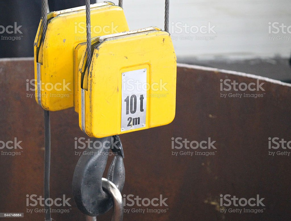 mount, hook and slings stock photo