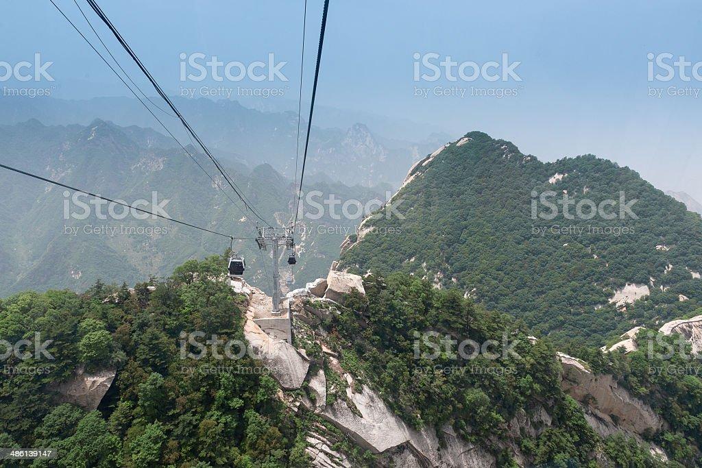 Mount Hua, Hua Shan, Xian, China stock photo