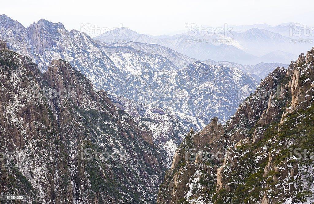 Mount Huangshan winter scenery royalty-free stock photo