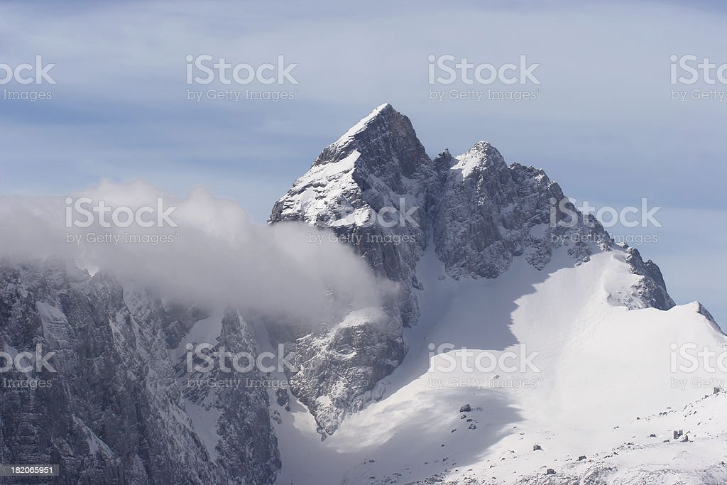 Mount Jalovec royalty-free stock photo