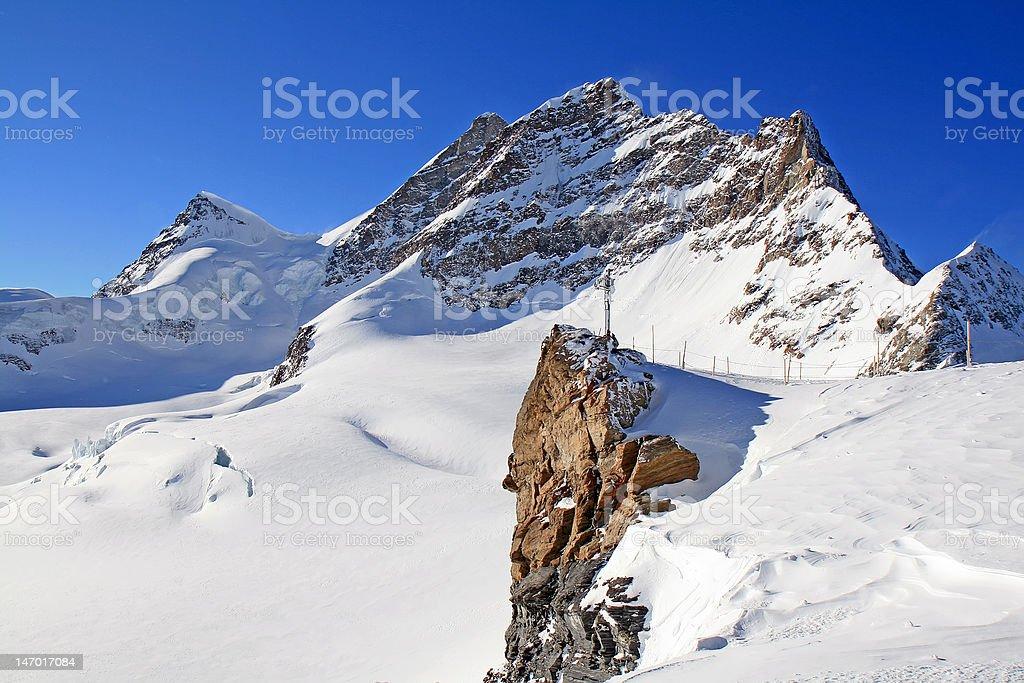 Mount Jungfrau, Switzerland royalty-free stock photo