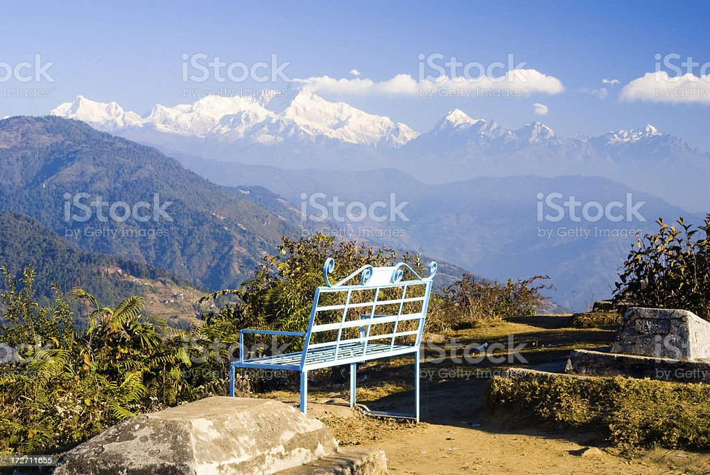 Mount Kanchenjunga stock photo