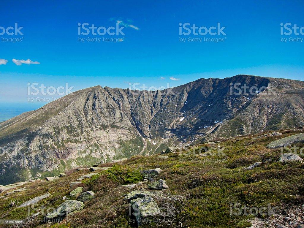Mount Katahdin, Baxter State Park, Maine. stock photo