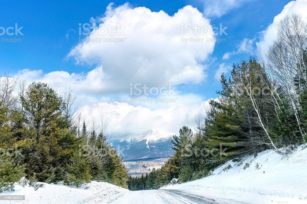 Mount Katahdin stock photo