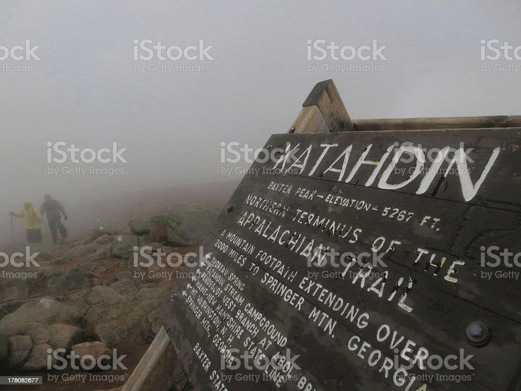 Mount Katahdin Summit stock photo
