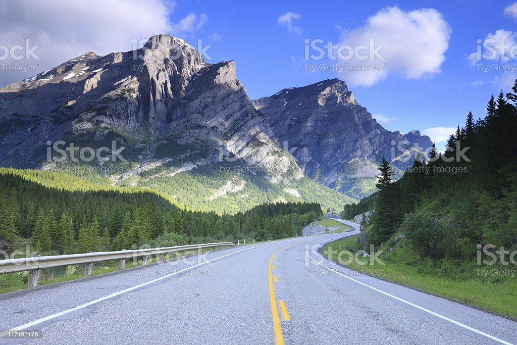 Mount Kidd, Canadian Rockies stock photo