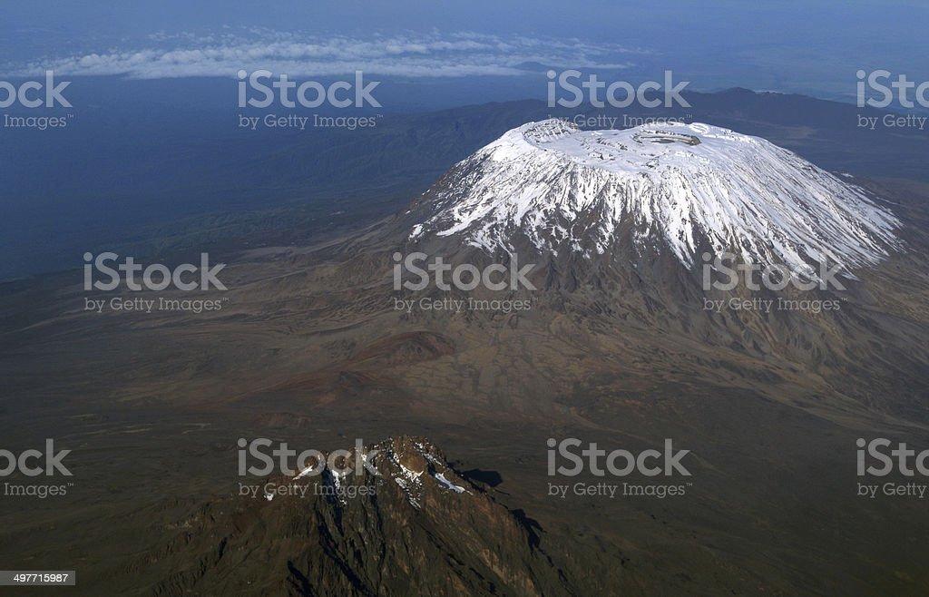 Mount Kilimanjaro: Highest mountain in Africa, Tanzania stock photo