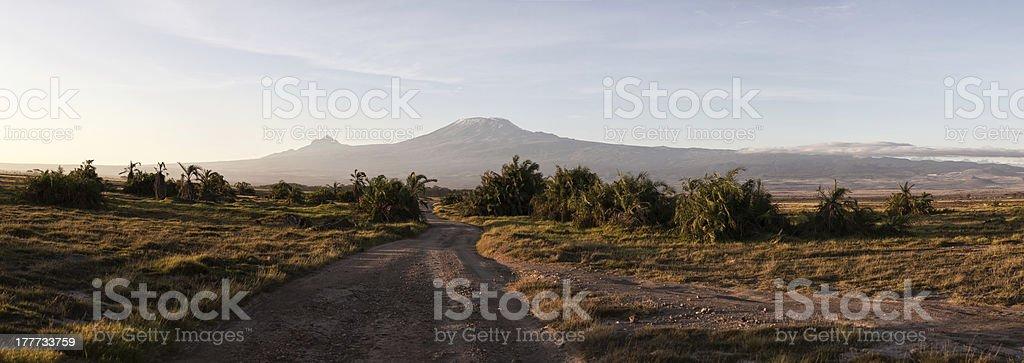 Mount Kilimanjaro, Panorama, Kenya royalty-free stock photo