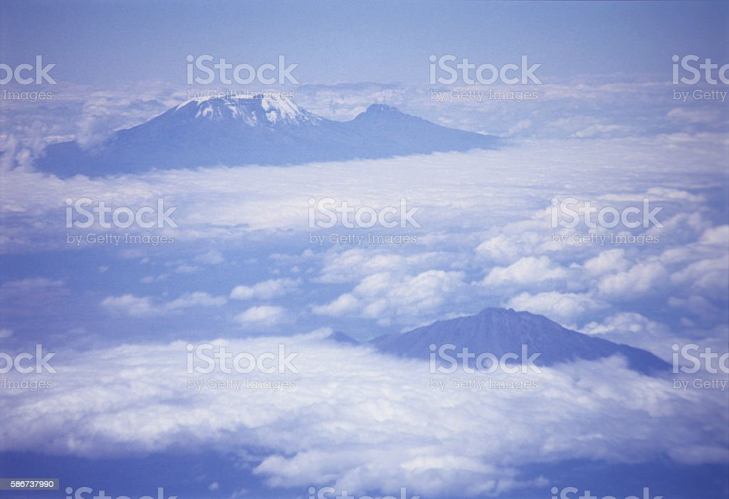 Mount Kilimanjaro the highest point in Africa stock photo
