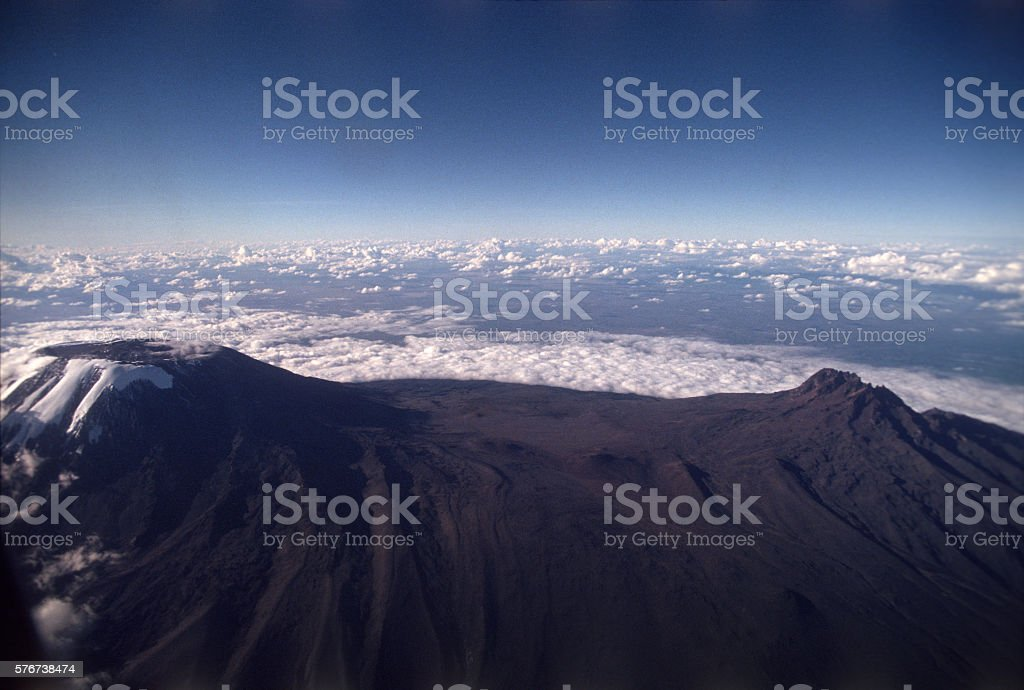 Mount Kilimanjaro the highest point in Africa, Tanzania stock photo
