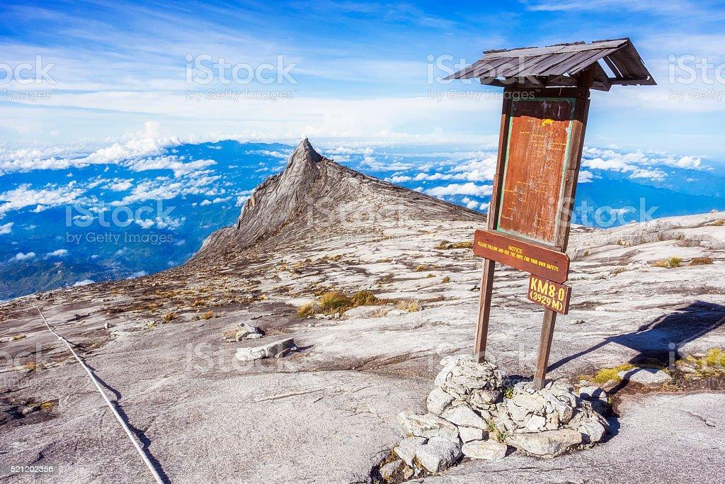 Mount Kinabalu in Sabah, Borneo, Malaysia stock photo