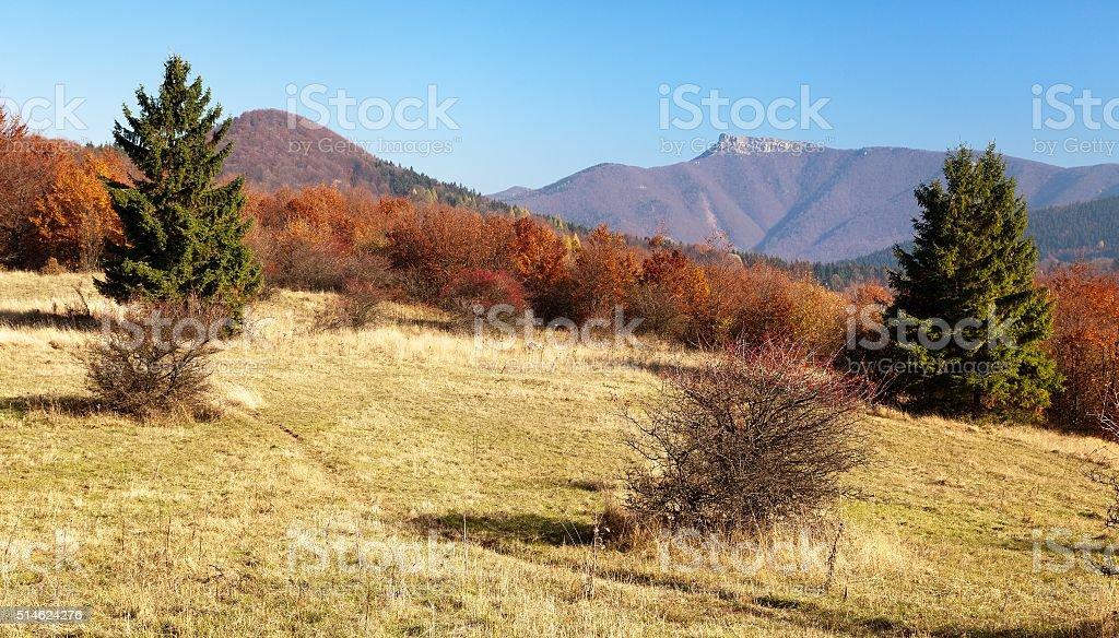 mount Klak, Mala Fatra from Strazovske vrchy, Slovakia stock photo