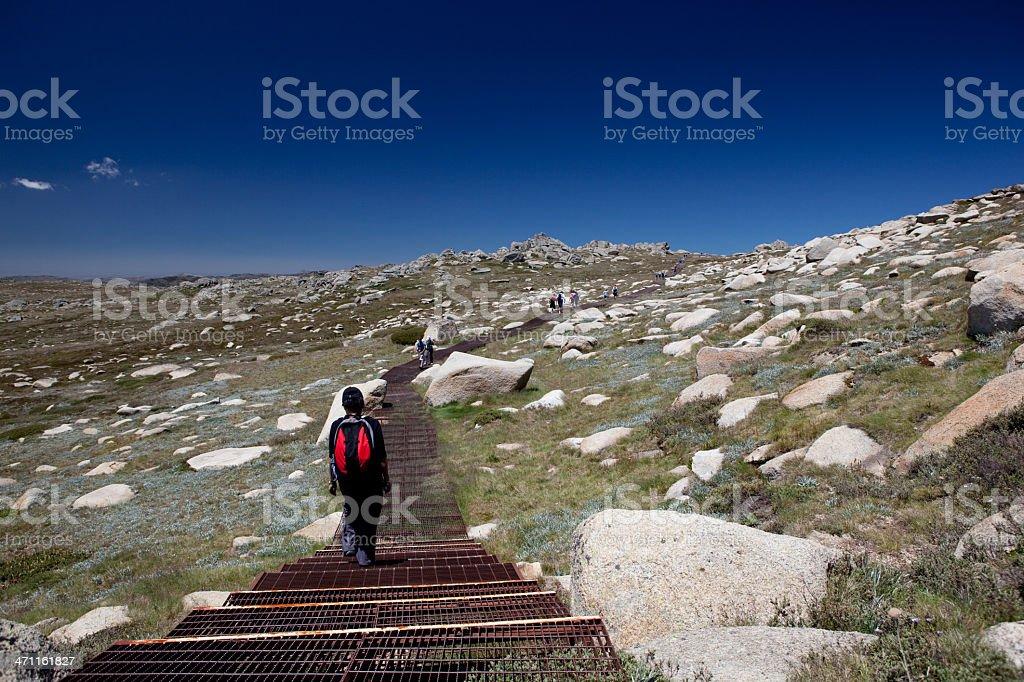 Mount Kosciuszko hiker stock photo
