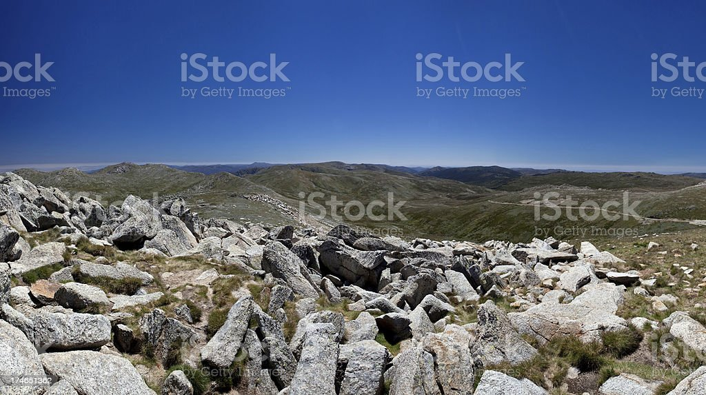Mount Kosciuszko panorama stock photo