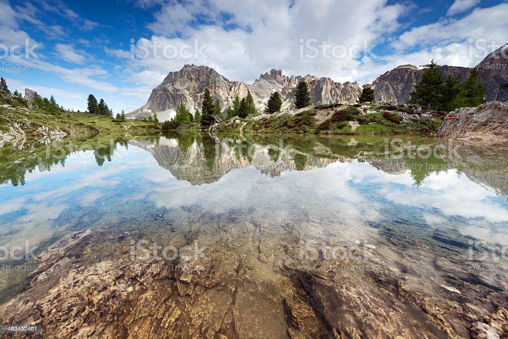 Mount Lagazuoi, Dolomites, Italy stock photo