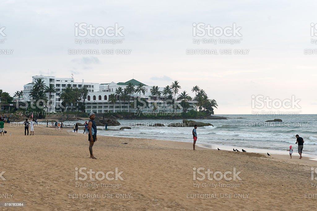 mount lavania Beach stock photo