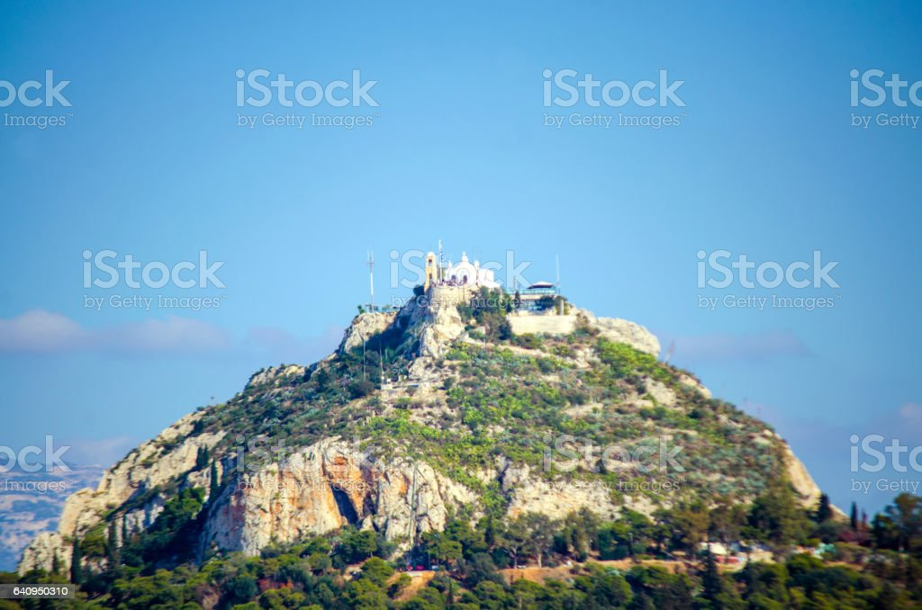 Mount Lycabettus stock photo