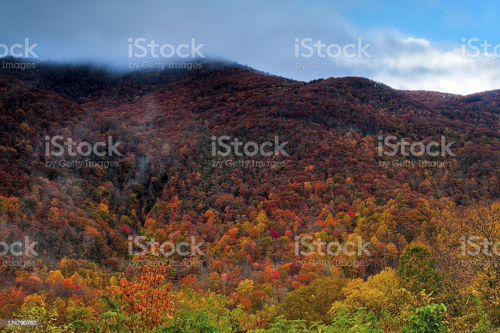 Mount Lyn Lowry, Milepost 445, Blue Ridge Parkway, North Carolina royalty-free stock photo