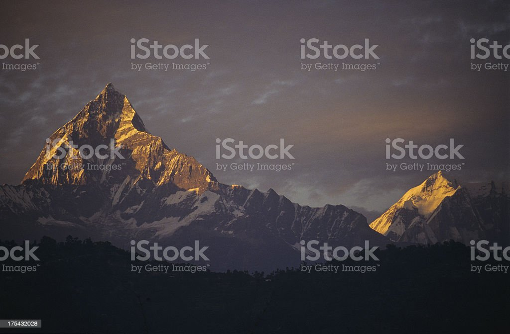 mount Machhapuchhre royalty-free stock photo