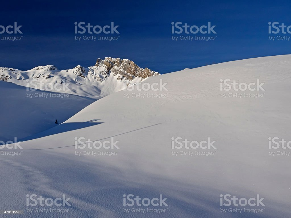 Mount Magerrain snow capped stock photo