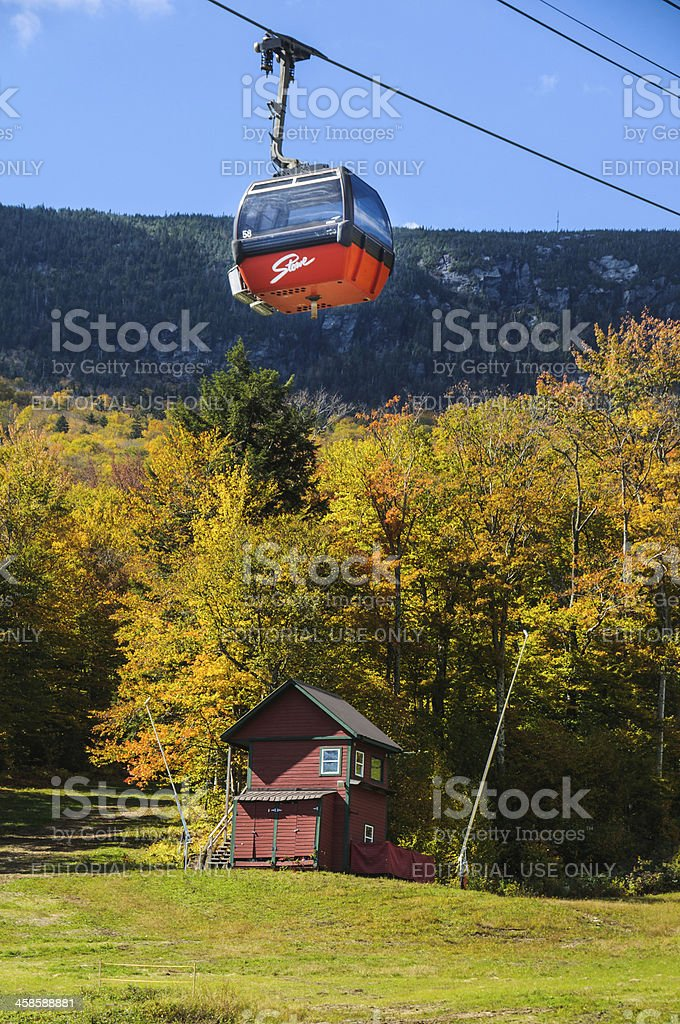 Mount Mansfield Gondola stock photo