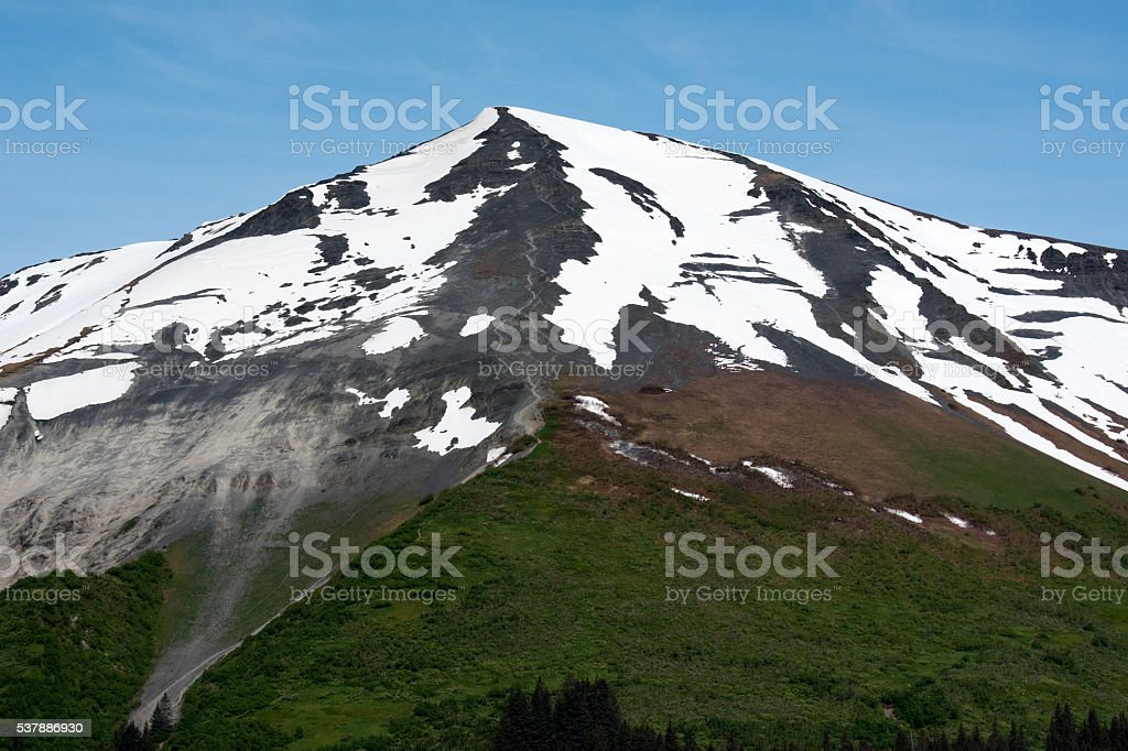 Mount Marathon - Seward, Alaska stock photo
