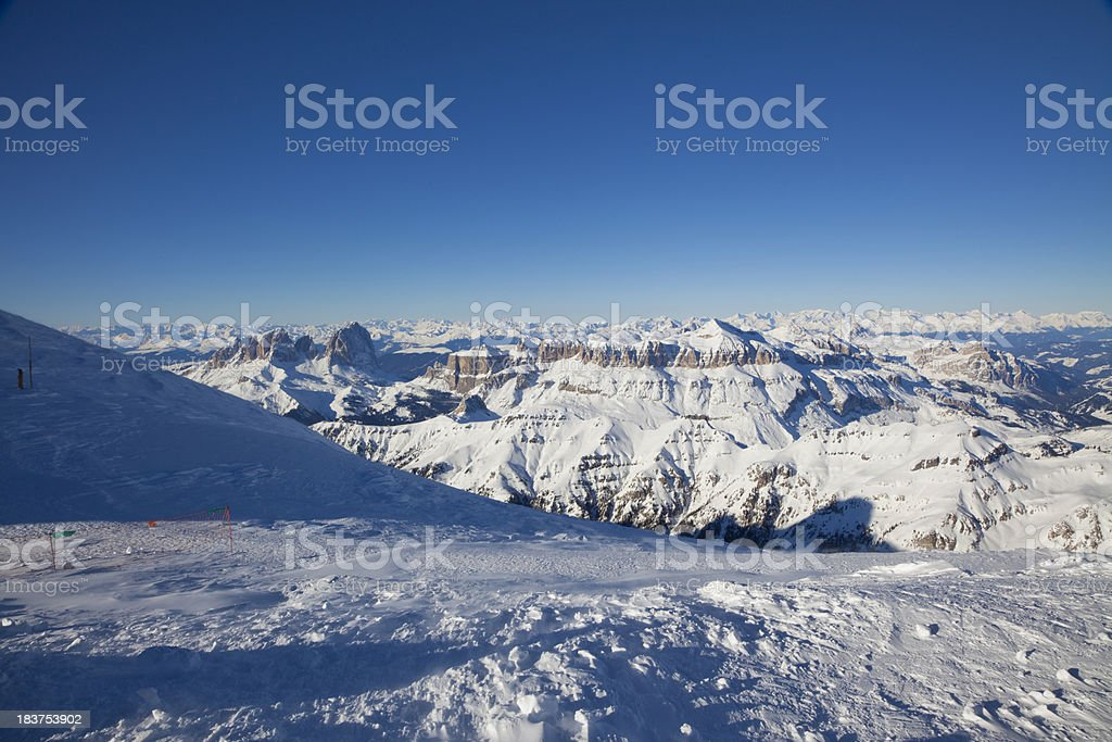 Mount Marmolada - Italian Dolomites in Winter royalty-free stock photo