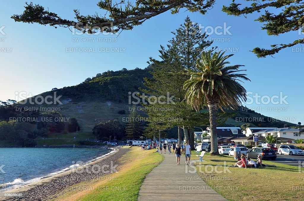 Mount Maunganui - New Zealand stock photo
