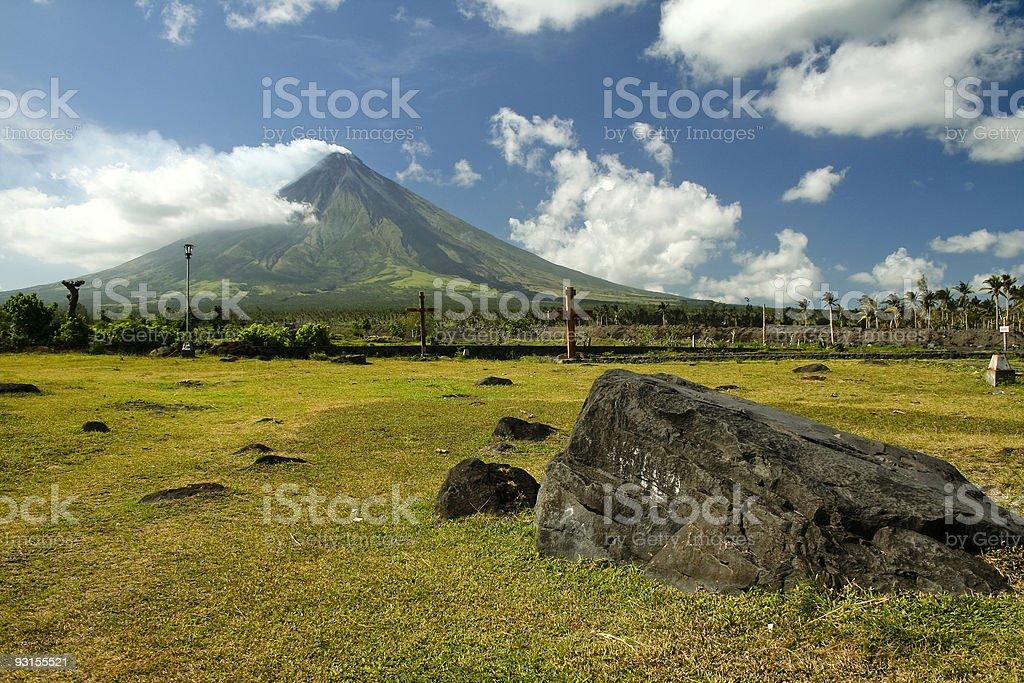 mount mayon active volcano albay philippines royalty-free stock photo