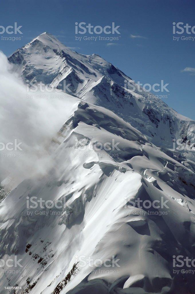 Mount McKinley summit royalty-free stock photo
