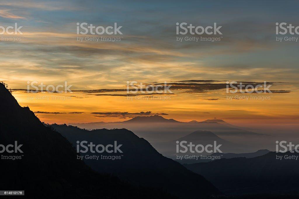 Mount Merapi Indonesia stock photo