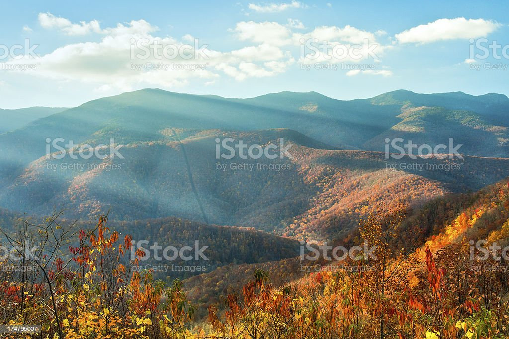Mount Mitchell, Hewat Overlook, Blue Ridge Parkway, North Carolina royalty-free stock photo