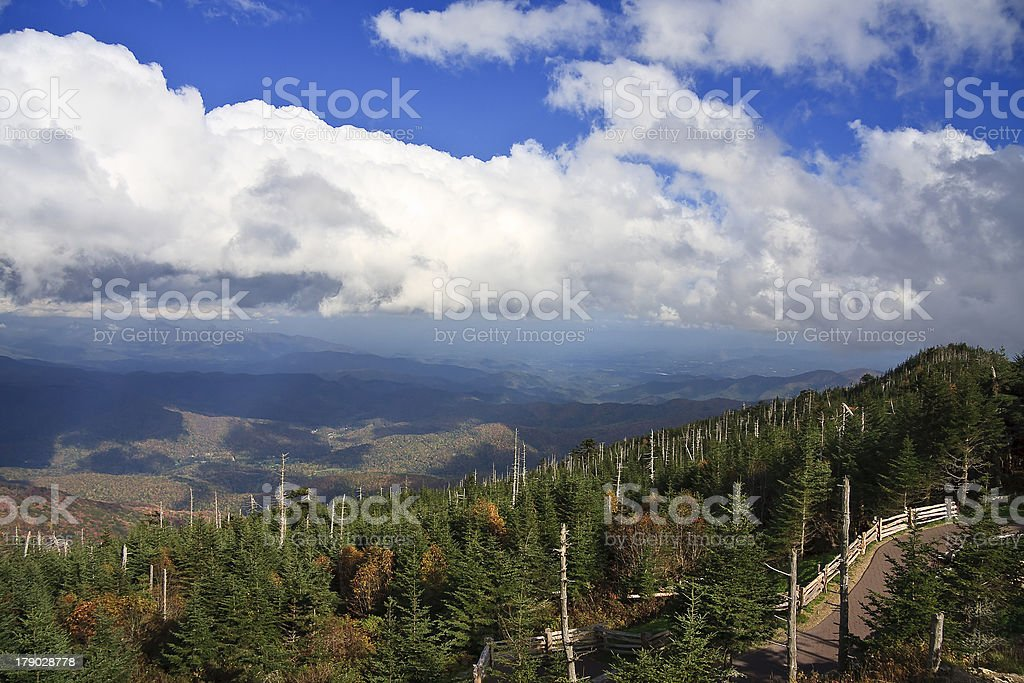 Mount Mitchell in North Carolina royalty-free stock photo