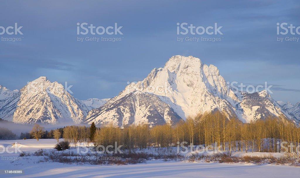Mount Moran in Winter royalty-free stock photo
